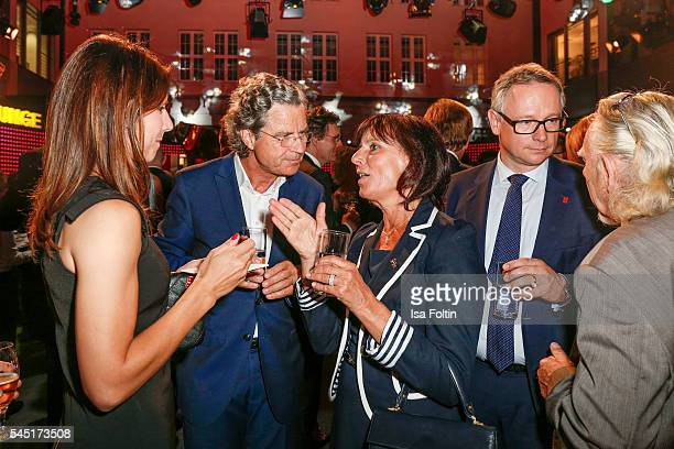AnnKathrin Mack Florian Langenscheidt Marianne Mack and Georg Fahrenschon attend the Deutscher Gruenderpreis on July 5 2016 in Berlin Germany