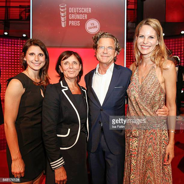 AnnKathrin Mack Marianne Mack Florian Langenscheidt and his wife Miriam Langenscheidt attend the Deutscher Gruenderpreis on July 5 2016 in Berlin...