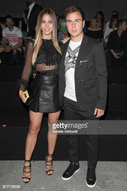 AnnKathrin Vida and Mario Gotze attend Dsquared2 show during Milan Men's Fashion Spring/Summer 2019 on June 17 2018 in Milan Italy