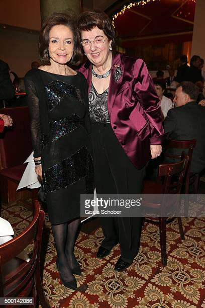 AnnKatrin Bauknecht and Lore Peschel Gutzeit during the Ein Herz Fuer Kinder gala 2015 after show party at Borchardt Restaurant on December 5 2015 in...