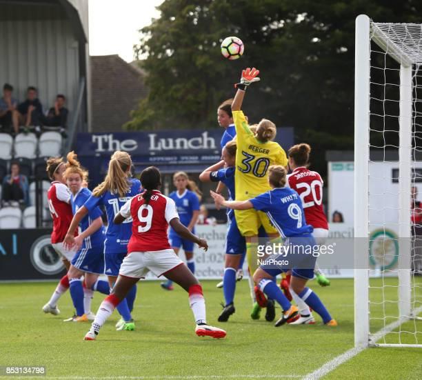 AnnKatrin Berger of Birmingham City LFC during Women's Super League 1 match between Arsenal Women against Birmingham City Ladies at Borehamwood...