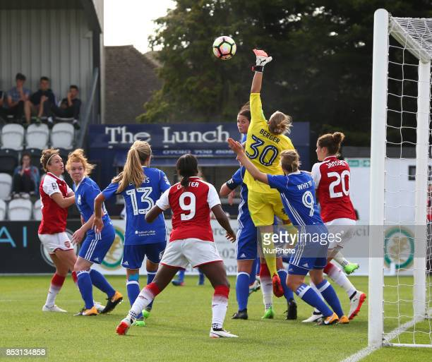 AnnKatrin Berger of Birmingham City LFC during Women's Super League 1 match between Arsenal Women against Birmingham City Ladies at Borehamwood...