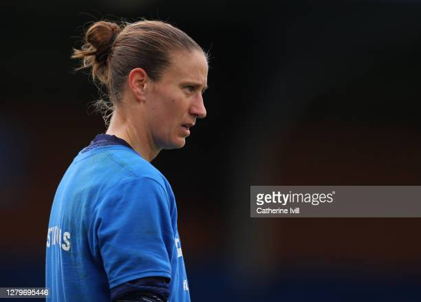 AnnKatrin Berger of Chelsea ahead of the Barclays FA Women's Super League match between Chelsea Women and Manchester City Women at Kingsmeadow on...