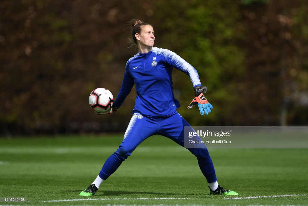 GBR: Chelsea Women Training And Press Conference