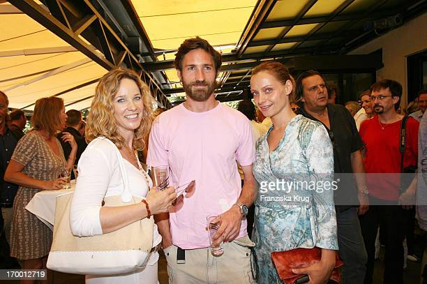 AnnKatrin Kramer Benjamin Sadler and Catherine Flemming When receiving Zdf In Des Film Festival in Munich on 180706