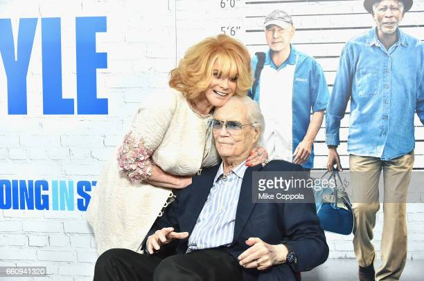 """Ann-Margaret, and Roger Smith attend the """"Going In Style"""" New York Premiere at SVA Theatre on March 30, 2017 in New York City."""