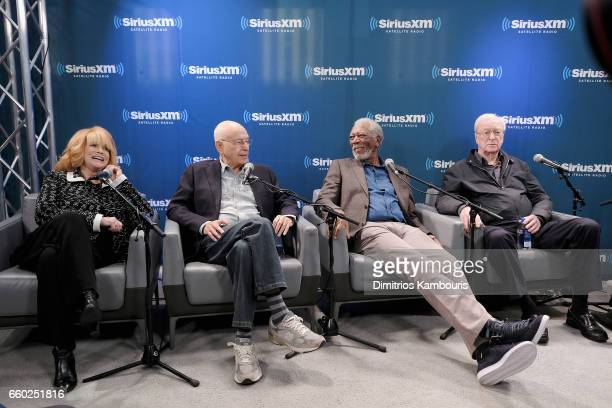 AnnMargret Alan Arkin Morgan Freeman and Michael Caine speak during SiriusXM's 'Town Hall' with the cast of 'Going In Style' Town Hall to air on...