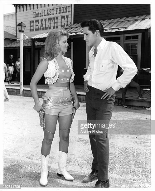 AnnMargret and Elvis Presley on the set of the film 'Viva Las Vegas' 1964