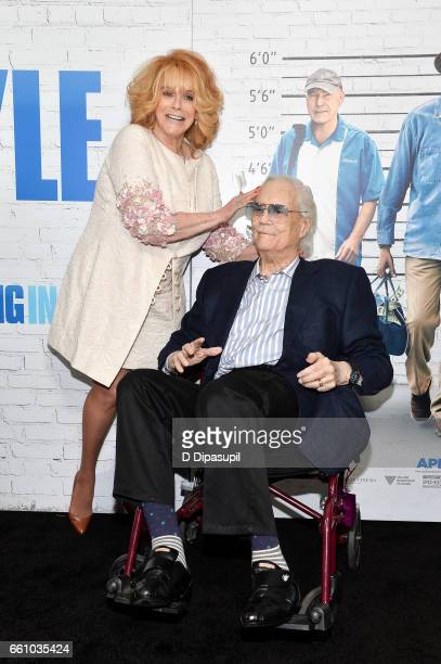AnnMargret and husband Roger Smith attend the 'Going in Style' New York premiere at SVA Theatre on March 30 2017 in New York City
