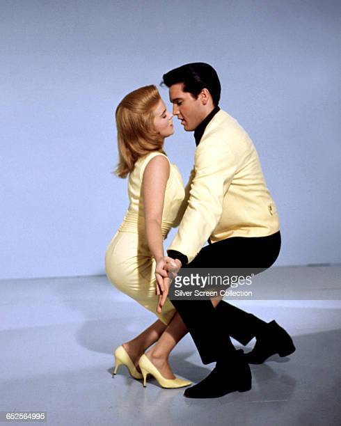 AnnMargret as Rusty Martin and Elvis Presley as Lucky Jackson in the musical film 'Viva Las Vegas' 1964