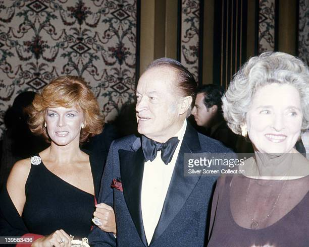 AnnMargret SwedishAmerican actress Bob Hope Britishborn US actor and comedian and his wife Dolores Hope attending an unspecified event circa 1975