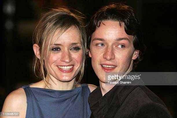 AnnMarie Duff and James McAvoy during 'Becoming Jane' London Premiere Arrivals at Odeon West End in London Great Britain