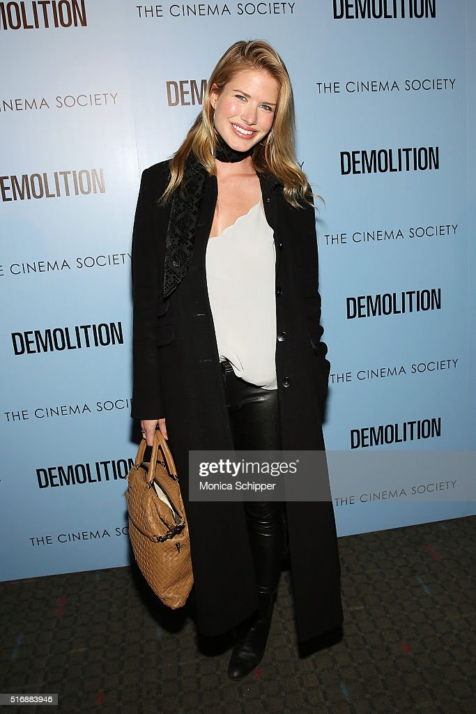 Annmarie Nitti attends Fox Searchlight Pictures with The Cinema Society Host A Screening of 'Demolition' at SVA Theatre on March 21, 2016 in New York City.
