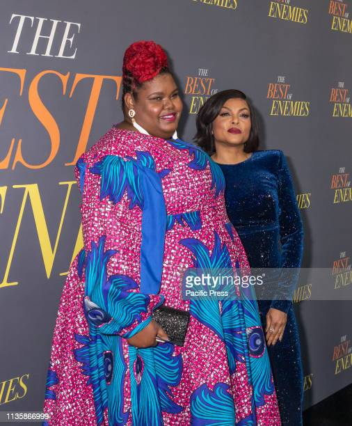 AnnNakia Green and Taraji P Henson attend 'The Best Of Enemies' New York Premiere at AMC Loews Lincoln Square Manhattan