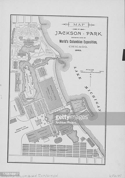 Annotated map of the World's Colombian Exposition at Jackson Park Chicago 1893