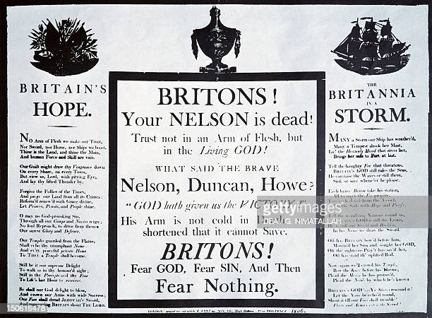 Announcement of Nelson's death at Trafalgar 1805 Napoleonic Wars England 19th century