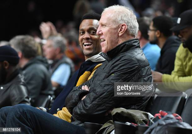ESPN announcer and NBA Hall of Fame player Bill Walton enjoys watching game action in the championship game of the Motion Bracket at the PK80Phil...