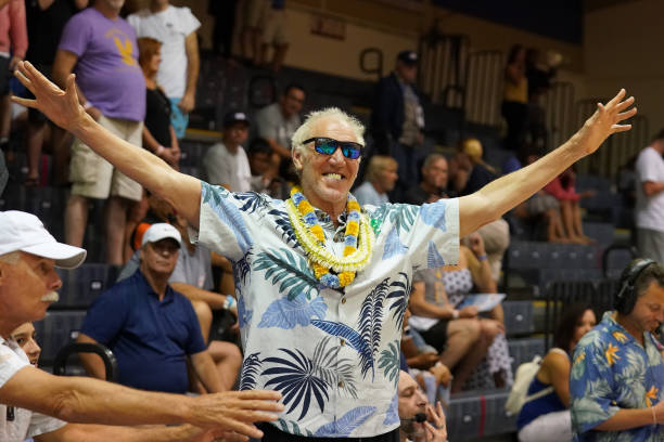 ESPN announcer Bill Walton looks on during a thirdround Maui Invitation basketball game between the Virginia Tech Hokies and the Brigham Young...