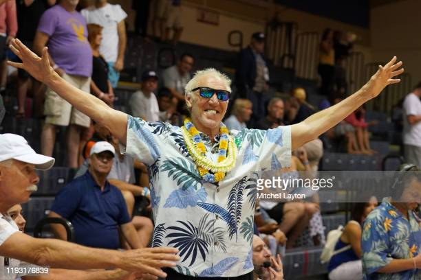 Announcer Bill Walton looks on during a third-round Maui Invitation basketball game between the Virginia Tech Hokies and the Brigham Young Cougars at...