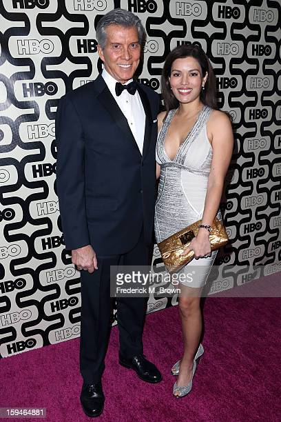 Announcer Michael Buffer and Christine Buffer attend HBO's Post 2013 Golden Globe Awards Party held at Circa 55 Restaurant at the Beverly Hilton...