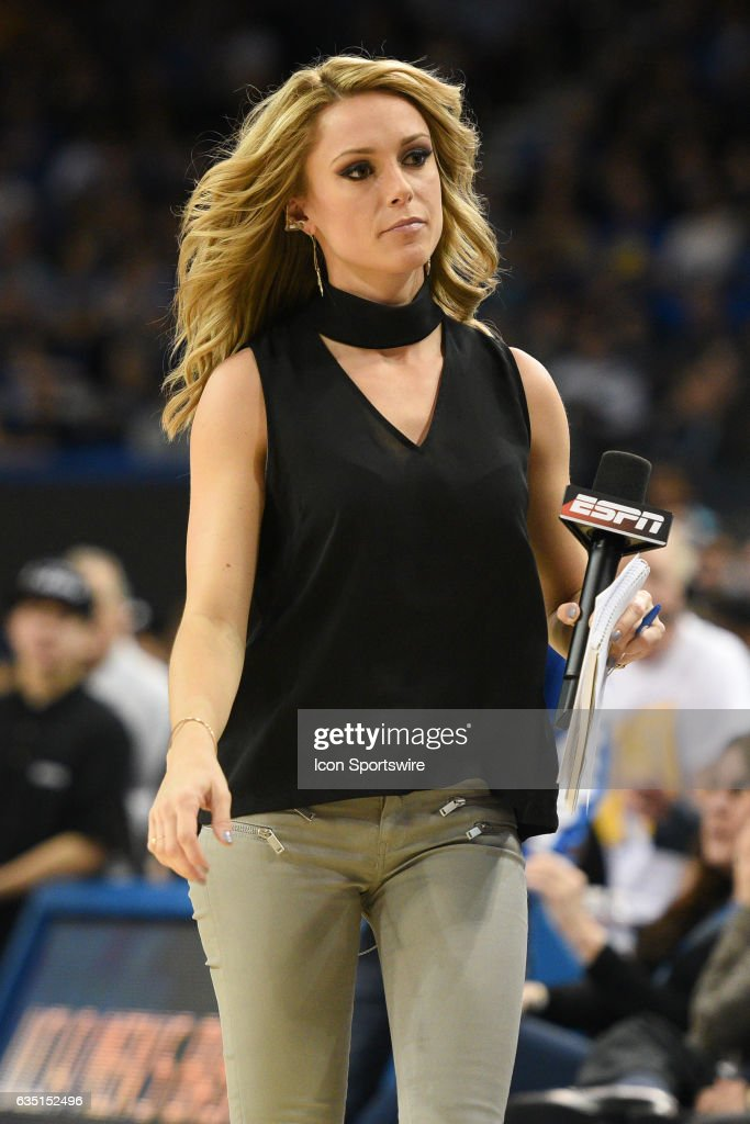 Espn Announcer Molly Mcgrath Looks On During A College -4163