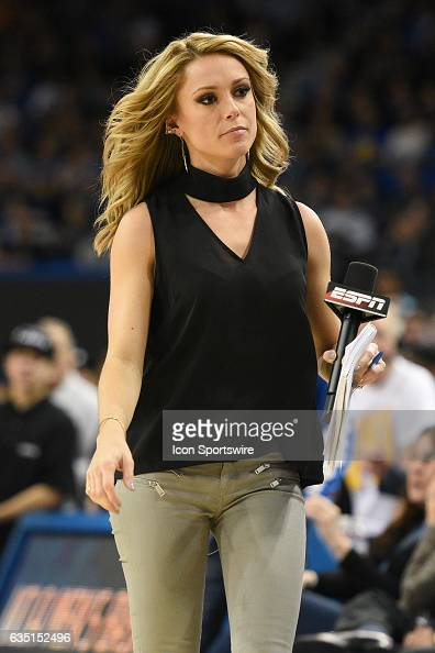 Espn Announcer Molly Mcgrath Looks On During A College -6327