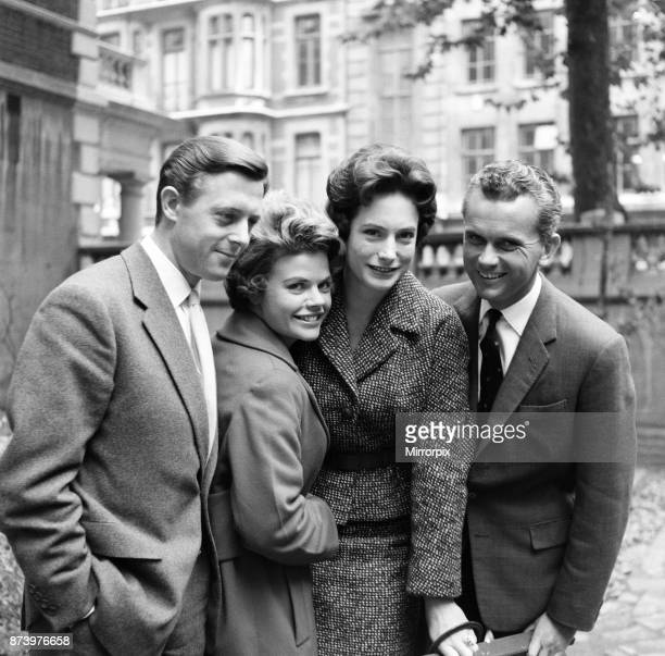 Announcers Michael Aspel, Judith Chalmers, Nan Winton and Kenneth Kendall, 29th September 1960.