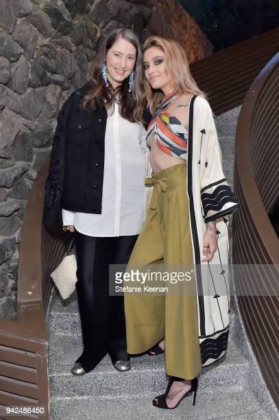 AnnSofie Johansson and Paris Jackson attend the HM celebration of 2018 Conscious Exclusive collection at John Lautner's Harvey House on April 5 2018...