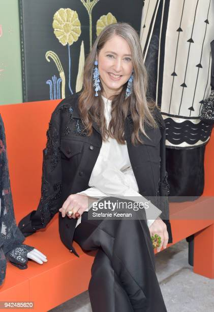 AnnSofie Johansson attends the HM celebration of 2018 Conscious Exclusive collection at John Lautner's Harvey House on April 5 2018 in Los Angeles...