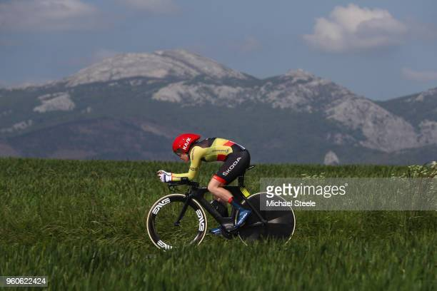 AnnSophie Duyck of Belgium and CerveloBigla Pro Cycling during the 31st Women WT EmakumeenBira Stage 2 266km Individual Time Trial from Agurain to...