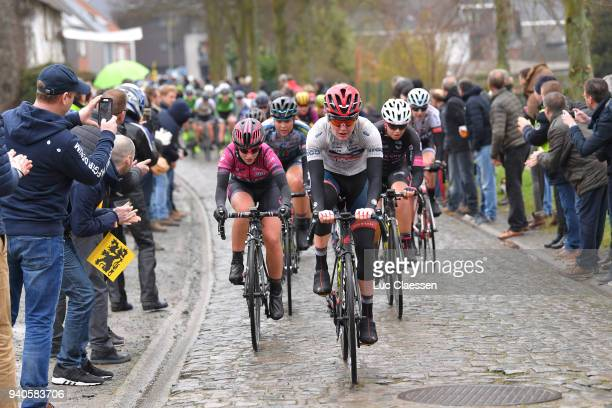 AnnSophie Duyck of Belgium and CerveloBigla Pro Cycling Team / Lisa Morzenti of Italy and Team Bepink / Maaike Boogaard of The Netherlands and Team...