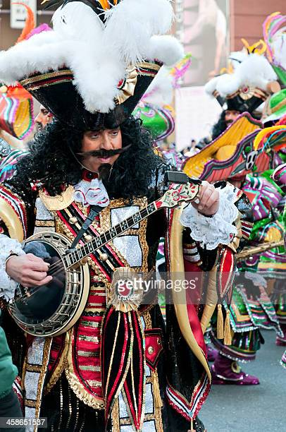 annual 2009 philadelphia mummers parade - pirate with banjo - mummers parade stock pictures, royalty-free photos & images