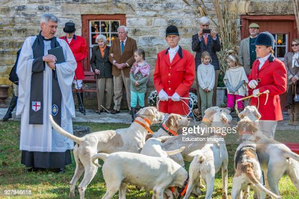 Annual Blessing of the Hounds at the Iroquois Hunt Club in Kentucky