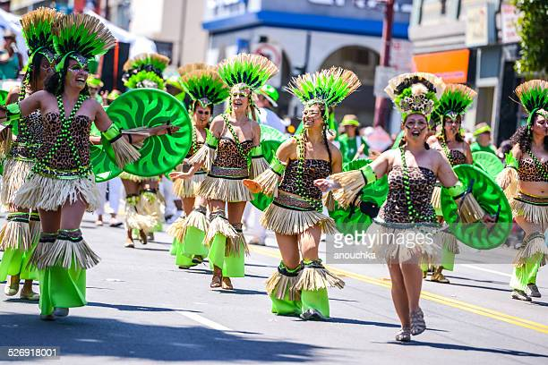 annual carnaval festival in mission district, san francisco - mexican fiesta stock pictures, royalty-free photos & images