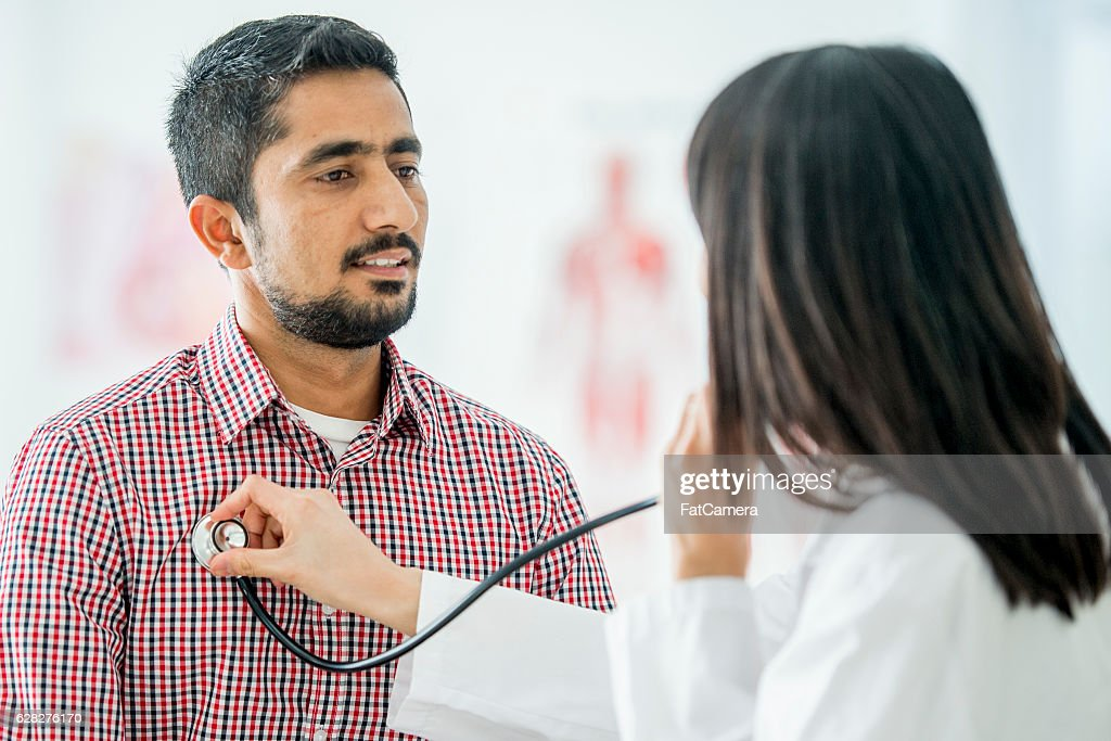 Annual Check Up at the Doctors : Stock Photo
