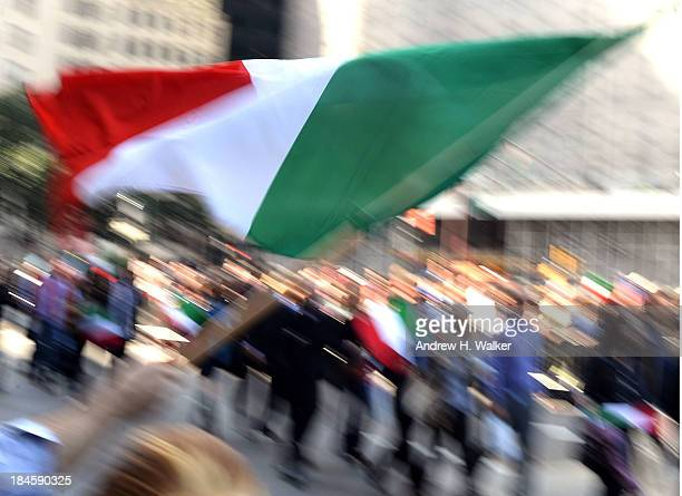 Annual Columbus Day Parade marches down New York City's Fifth Avenue on October 14 2013 in New York City