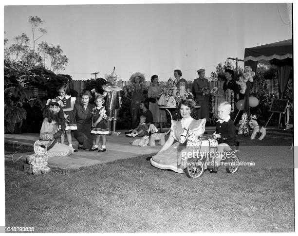Annual doll fair of Children's Hospital 27 October 1952 Mrs WL KortumKathee Stevens 5 1/2Julia Stevens 3 1/2Mrs RW StevensMrs Arnold J DoveyMrs A W...