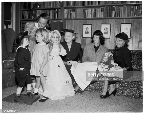 Annual doll fair of Children's Hospital 27 October 1952 Mrs WL KortumKathee Stevens 5 1/2Julia Stevens 3 1/2Mrs RW StevensMrs Arnold J DoveyMrs A W...