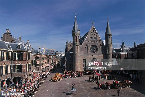 annual dutch royal parade - imperial system stock photos and pictures