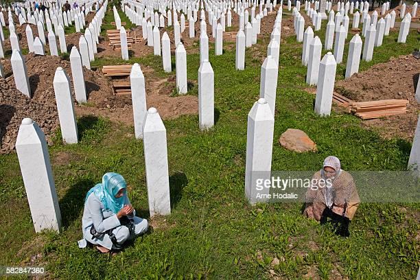 Annual gathering at Potocari/burial site of Srebrenica massacre.