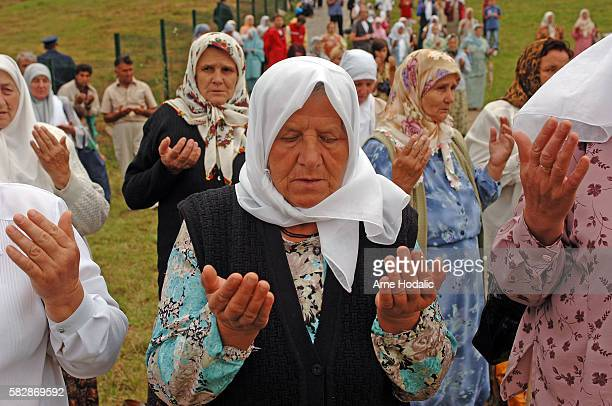 Annual gathering at Potocari/burial site of Srebrenica massacre.