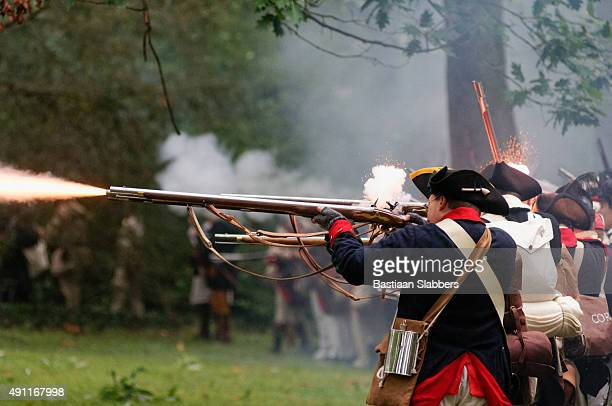 annual historic revolutionary germantown festival, northwest philadelphia, pa - revolutionary war stock photos and pictures