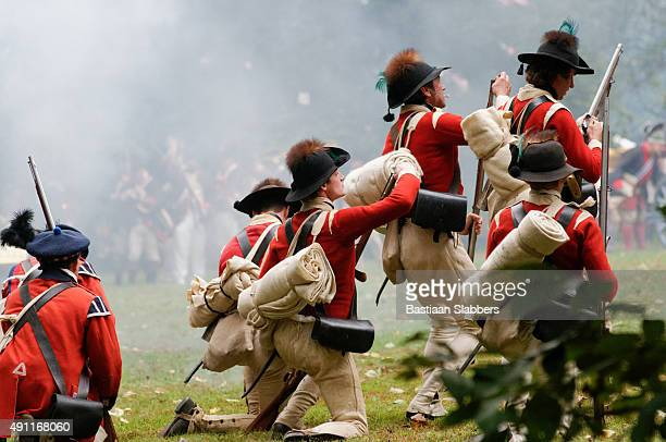 annual historic revolutionary germantown festival, northwest philadelphia, pa - historical reenactment stock photos and pictures