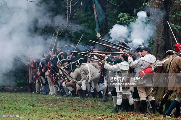 annual historic revolutionary germantown festival, northwest philadelphia, pa - revolutionary war soldier stock photos and pictures