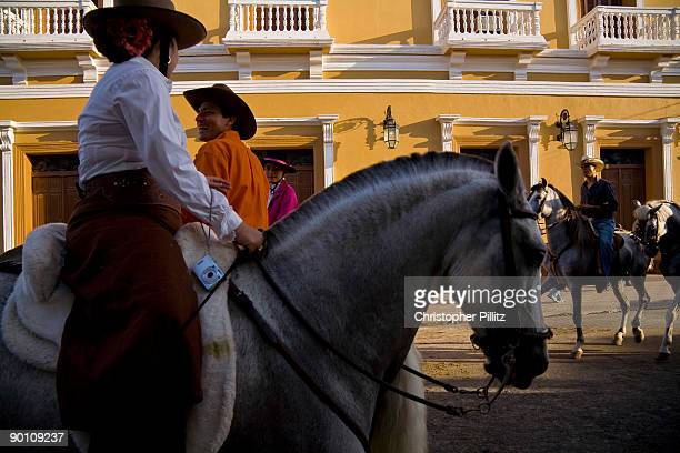 Annual horse parade where rich and poor alike show off their horses in the colonial town of Granada