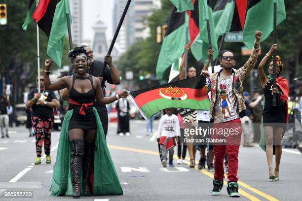 annual juneteenth parade and festival in philadelphia, pa - black history in the us stock pictures, royalty-free photos & images