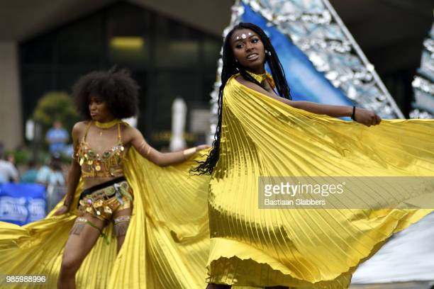 annual juneteenth parade and festival in philadelphia, pa - black history stock photos and pictures