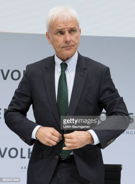 Annual Media Conference of Volkswagen AG in Wolfsburg Matthias Mueller CEO of Volkswagen AG before the start of the press conference