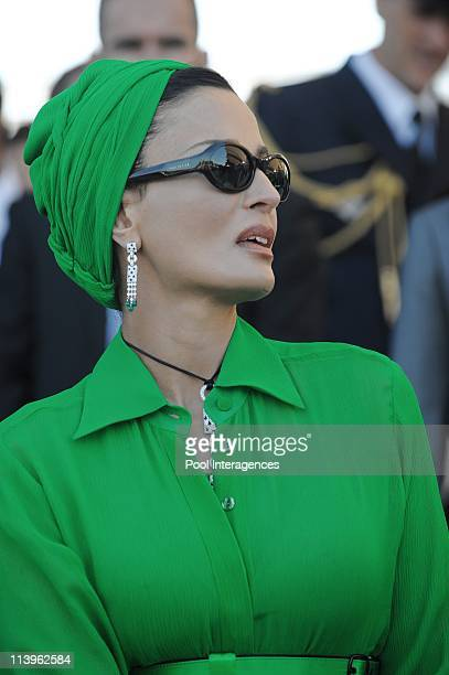 Annual military parade along the Champs Elysees in celebration of Bastille Day in Paris, France on July 14, 2008-Qatari Emir Sheikh Hamad Bin Khalifa...