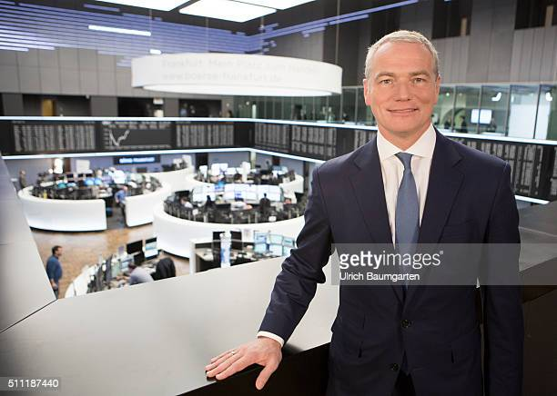 Annual Press Conference Deutsche Börse Group Carsten Kengeter Chief Executive Officer of Deutsche Börse Group in the trading hall of the stock...